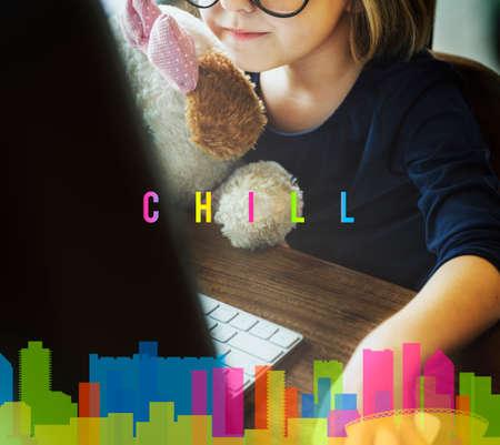 chill: Hipster Chill Cityscape Urban Graphic Concept