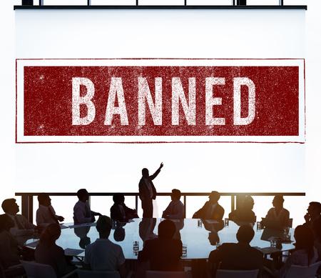 denied: Banned Denied Declined Negative Stamp Concept