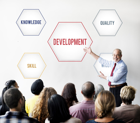 Development Success Training Geometric Forms Graphic