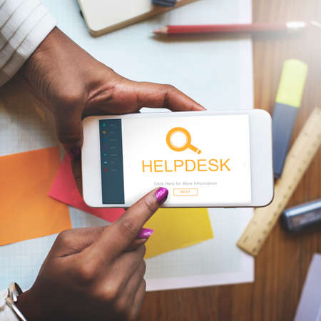 helpdesk: Customer Service Helpdesk Information Descover Concept