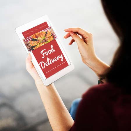 online service: Food Order Pizza Online Internet Concept