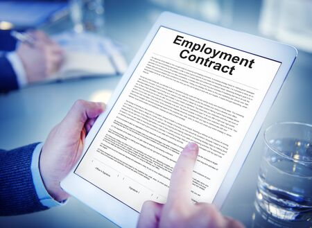 obligation: Employment Contract Obligation Terms Agreement Concept