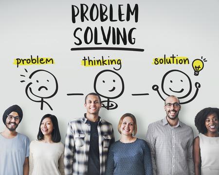 問題解決の創造的思考ブレーンストーミング人コンセプト