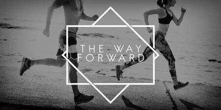 onward: Forward Ahead Aim Aspiration Target Vision Concept