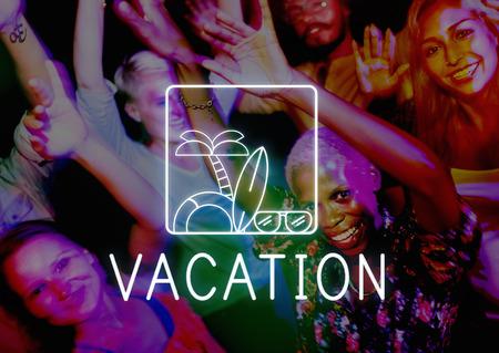 adult cruise: Summer Beach Sea Coast Graphics Concept