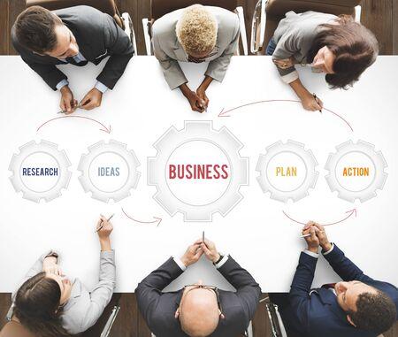 Nouvelle stratégie d'entreprise Concept cible Banque d'images