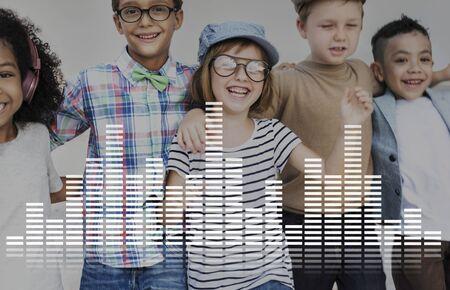 tunes: Audio Digital Equalizer Music Tunes Sound Wave Graphic Concept