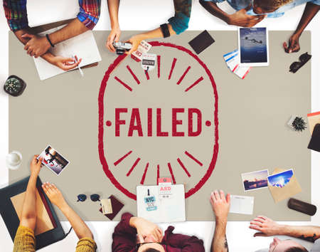 failed: Failed Fiasco Loss Unsuccessful Graphic Concept Stock Photo