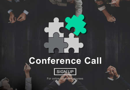 conference call: Conference Call Communication Connection Technology Concept