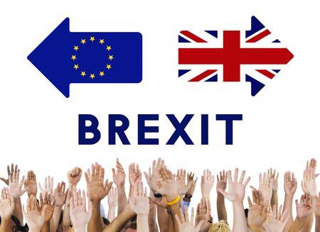 raise the white flag: Britain EU Brexit Referendum Concept Stock Photo