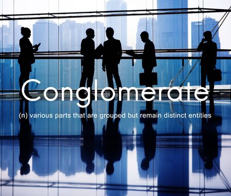 collaborate: Conglomerate Alliance Business Collaborate Team Concept