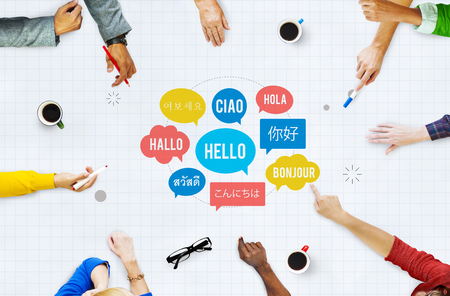 Lingua diversa Speech Bubble Ciao Concetto