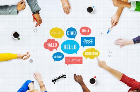 Verschillende Taal Speech Bubble Hallo Concept
