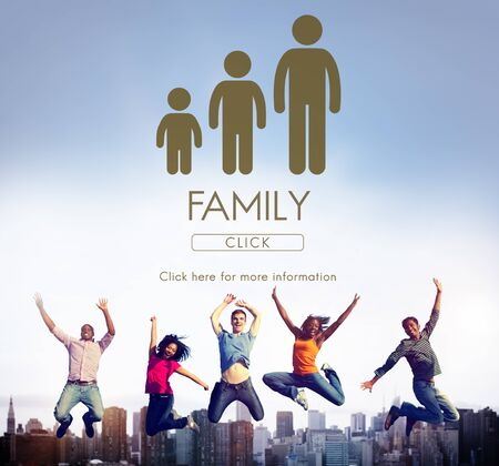 Family Generations Togetherness Relationship Concept Stock Photo