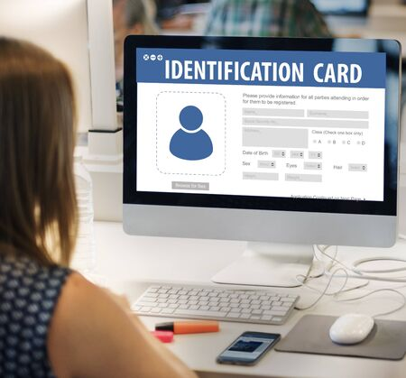 identification card: National Identification Card Data Information Citizen Concept
