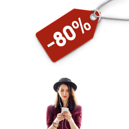 markdown: Sale Discount Label Tag Commerce Concept Stock Photo
