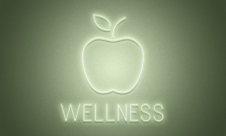An apple with wellness concept