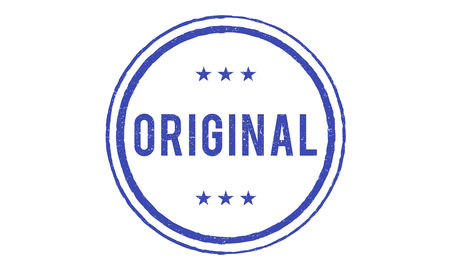 genuine: Original Copyright Genuine Patent Brand Graphic Concept Stock Photo