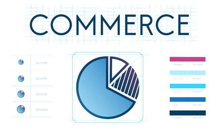 Pie chart with commerce concept