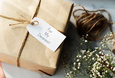 dearest: Message Label Tag Card Present Gift Concept