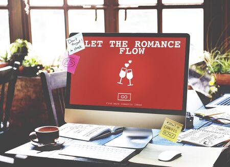 let: Let The Romance Flow Love Passion Valentines Concept