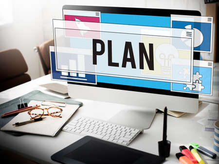 planning: Business Working Analysis Planning Concept Stock Photo