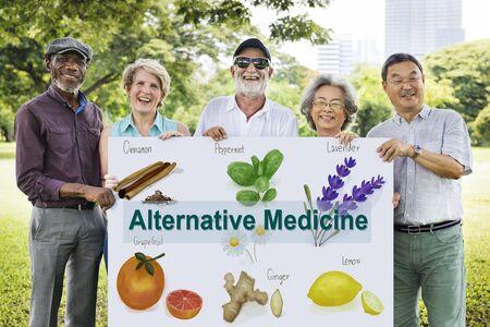 nature cure: Alternative Medicine Healthcare Herbal Natural Concept