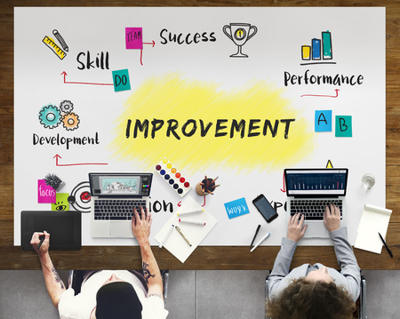 education: Improvement Potential Excellence Diagram Graphic Concept