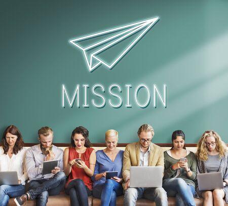 empezar: Launch Business Mission Startup Begin Mission Concept Foto de archivo