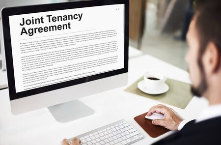 Renting: Joint Tenancy Agreement Property Renting Estate Concept
