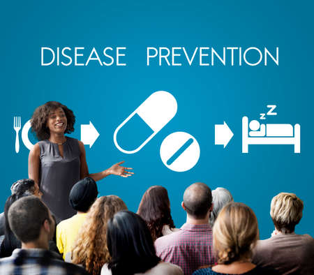 prevention of disease: Disease Prevention Medical Health Wellbeing Concept