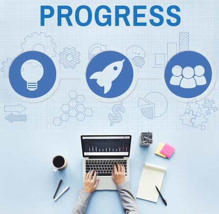 start business: Organization Solution Start Business Vision Concept