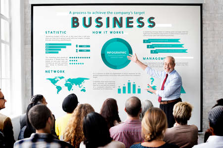 managment: Business Managment Marketing Global Plan Concept