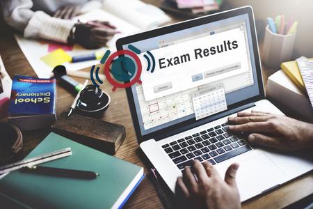 Klausurergebnisse Prüfungsnote Bildung Score Konzept