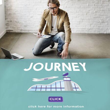 business trip: Journey Business Trip Flights Travel Information Concept Stock Photo