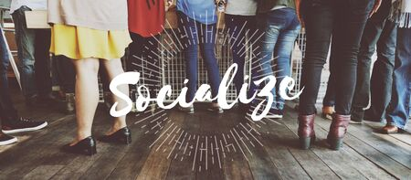 socialize: Socialize Diaspora Start up Initiation Team Building Concept