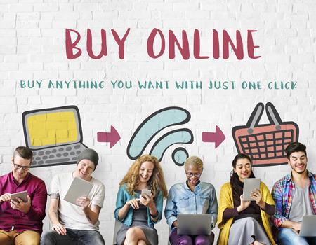 Online Shopping Web Shop E-shopping Concept Stock Photo - 62701244
