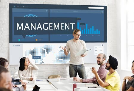 managment: Economy Global Business Marketing Managment Concept
