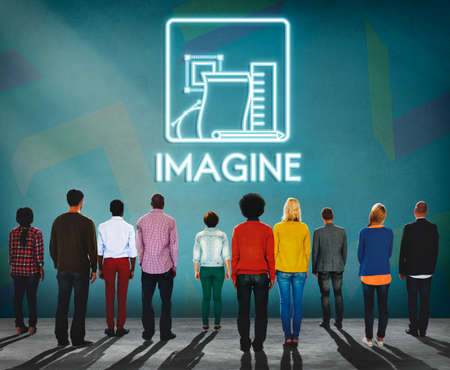 Imagine Ideas Thinking Vision Dream Creative Concept Stock Photo