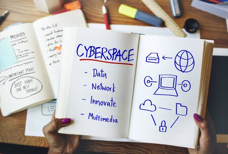 cyberspace: Cyberspace Network Multimedia Innovate Multimedia Concept