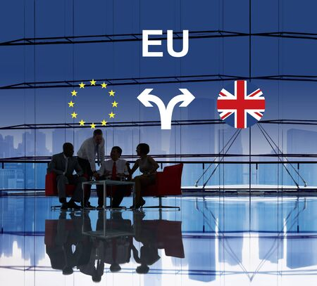 scepticism: Brexit Bremain UK EU Referendum Concept
