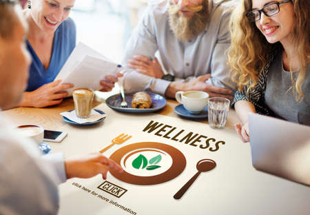 meet up: Wellness Wellbeing Health Healthi Lifestyle Concept Stock Photo
