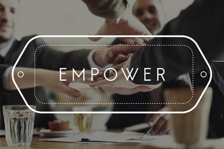 authorize: Empower Enable Emancipate Authorize Allow Concept
