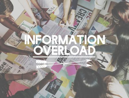 Information Overload Data Info Management Concept Stok Fotoğraf - 62702935