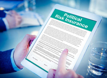 conflict theory: Political Risk Insurance Protection Government Concept