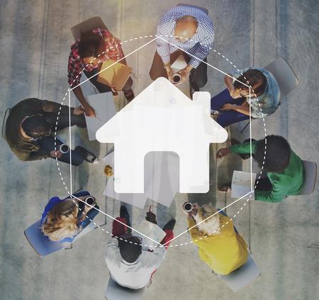 ホーム コミュニティ オンライン技術グラフィック コンセプト