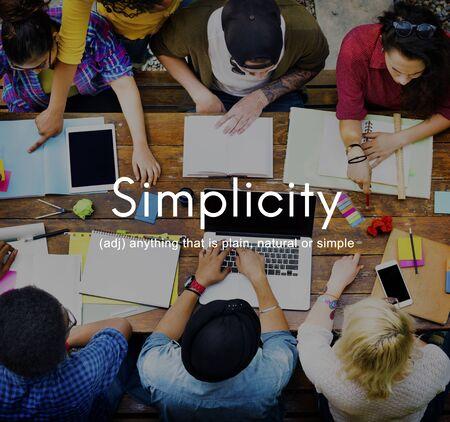 normal school: Simplicity Minimalist Easiness Design Simpleness Concept Stock Photo