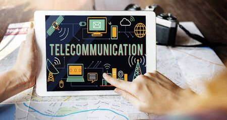 telecommunications: Telecommunication Global Communications Connection Network Concept