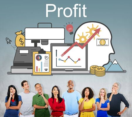 benefit: Profit Accounting Finance Auditing Money Banking Concept
