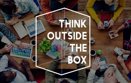 out of a box: Thinking Out Of The Box Concept